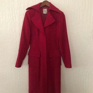 RARE VINTAGE NANETTE LEPORE RED BOUCLE JACKET COAT